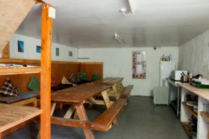 Bunkhouse dining & sitting room
