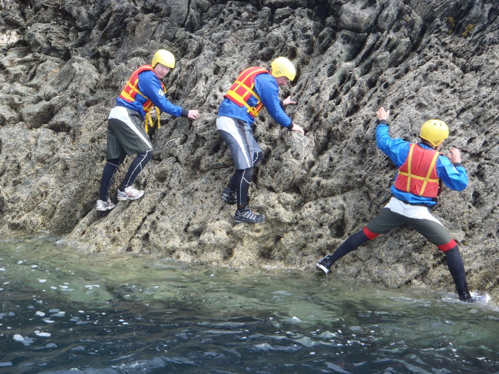 Traversing while Coasteering