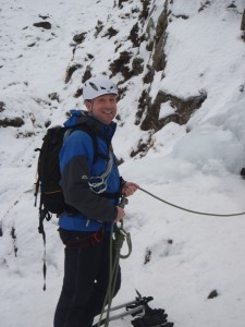 Andy on Idwal Stream Snowdonia